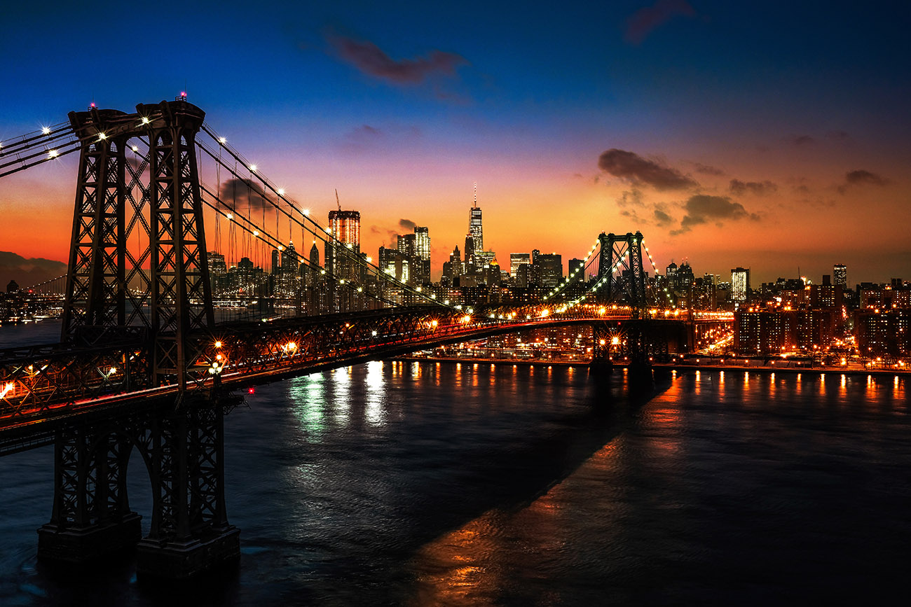 Le pont Williamsburg de New York 01 - photo stock
