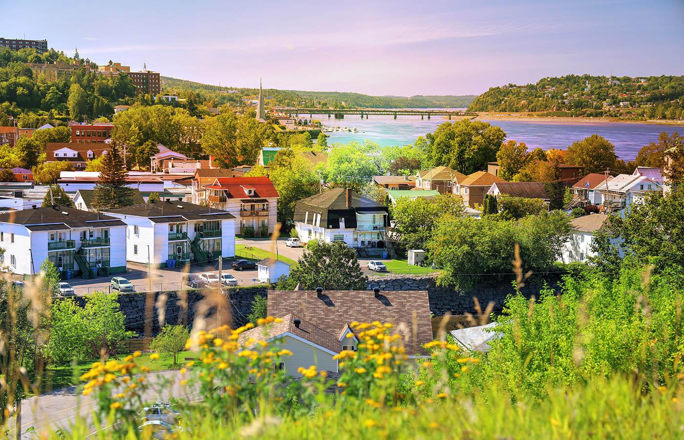 Ville de Saguenay - photo stock
