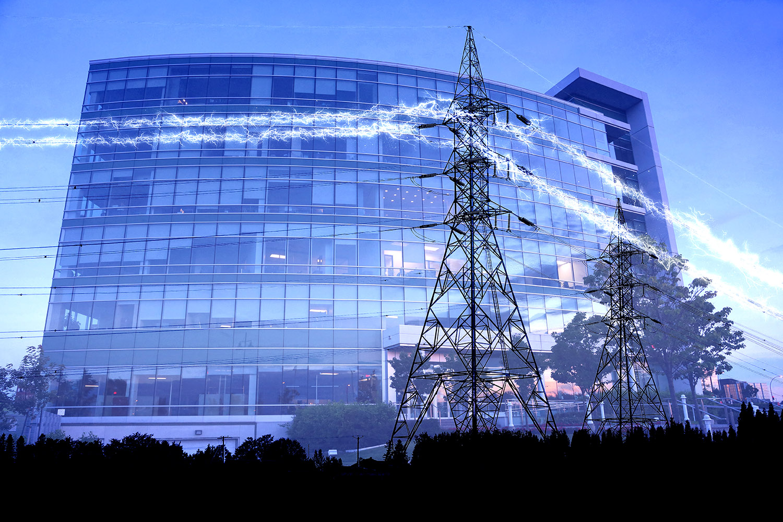 électricité de bâtiment commercial 1 - photo stock