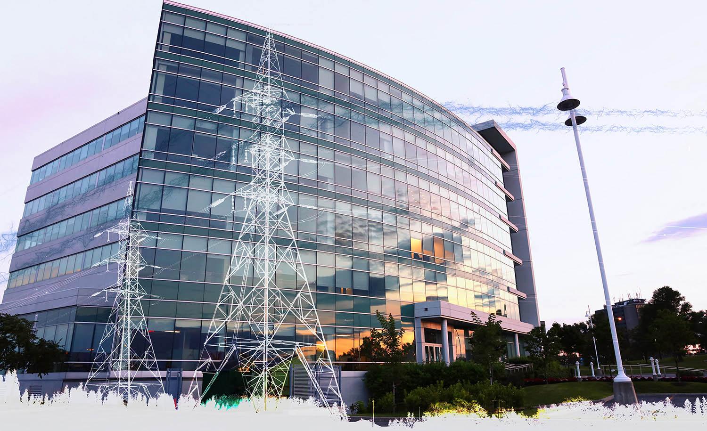 électricité de bâtiment commercial 2 - photo stock