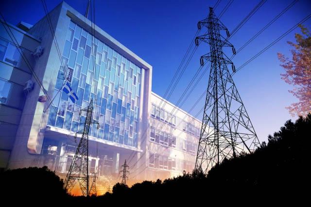 électricité de bâtiment commercial 3 - photo stock