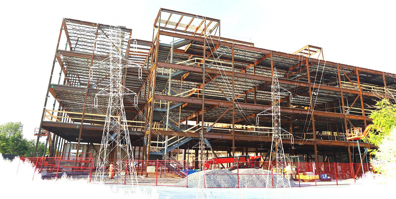 électricité de bâtiment en construction 3 - photo stock