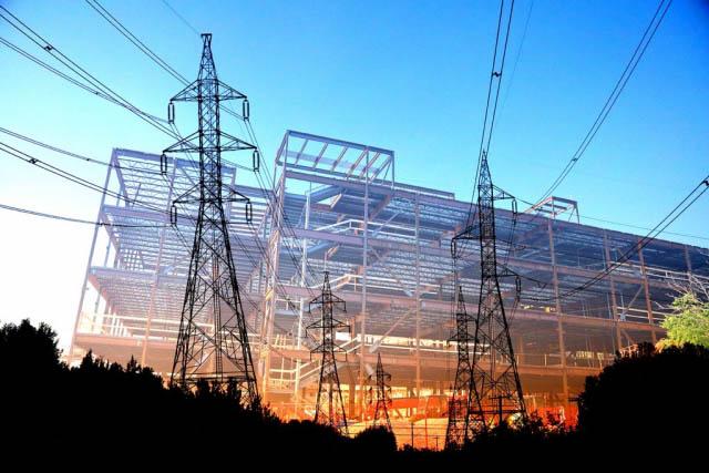 électricité de bâtiment en construction 4 - photo stock