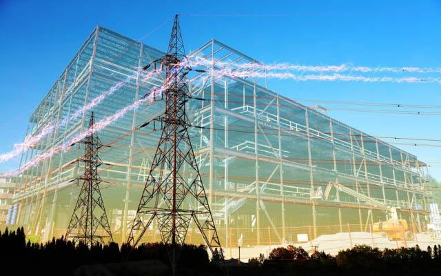 électricité de bâtiment en construction 5 - photo stock
