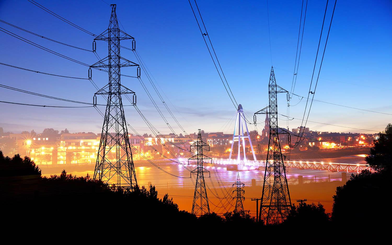 électricité en zone urbaine 3 - photo stock