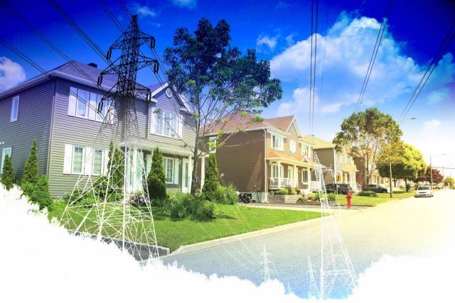 électrification rurale et urbaine 2 - photo stock
