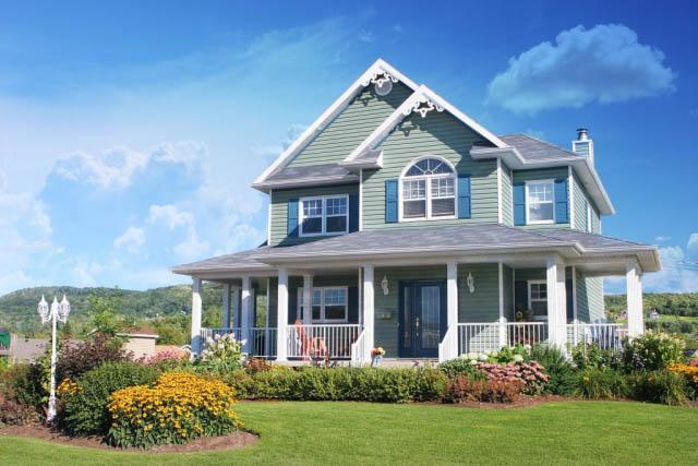 Grande maison rustique couleur pastel