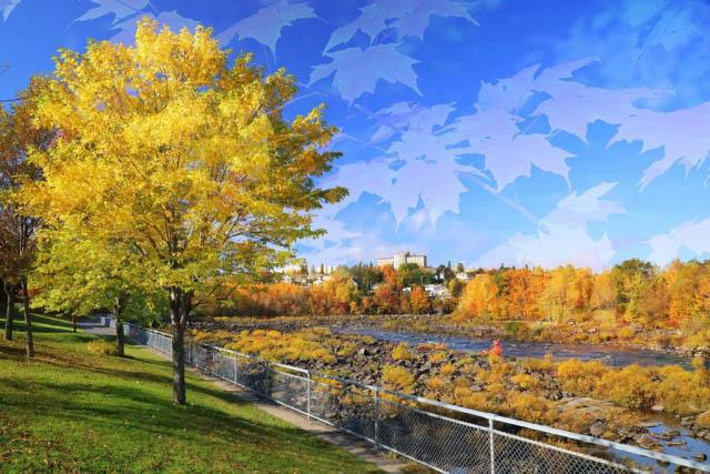 Riviere Saguenay en automne