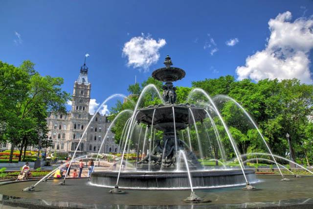 Fontaine de Tourny à Quebec